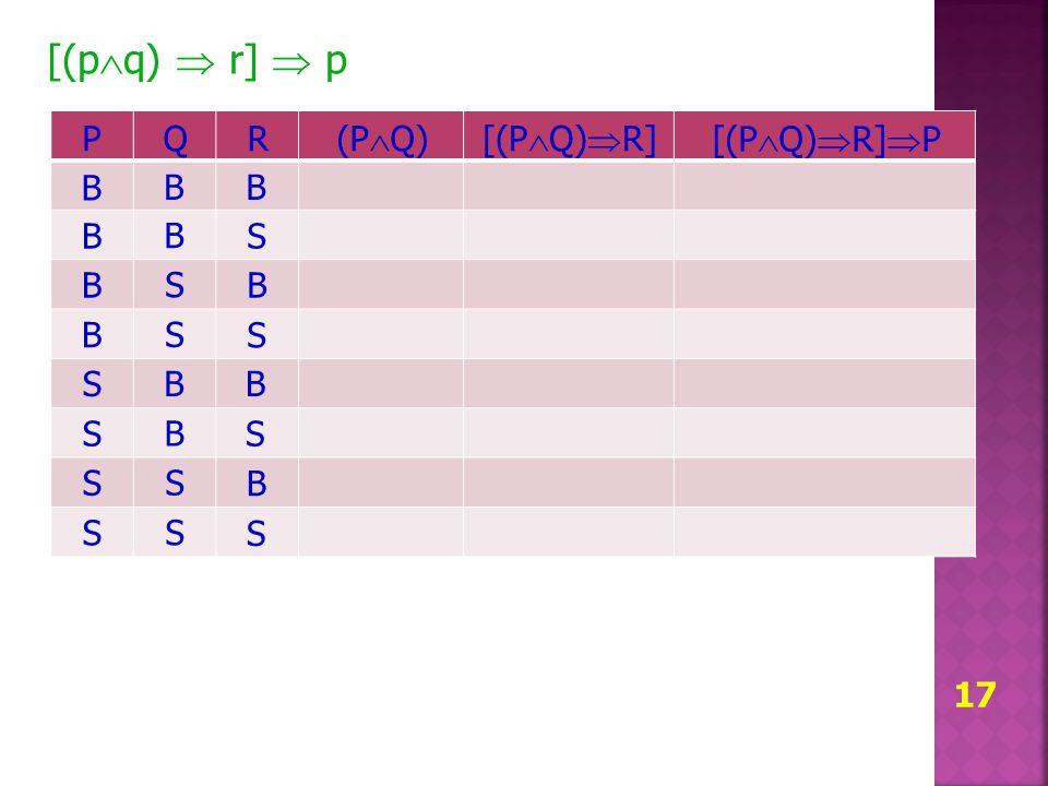 [(pq)  r]  p P Q R (PQ) [(PQ)R] [(PQ)R]P B B B B B S B S B B